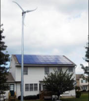 Small wind turbine and house